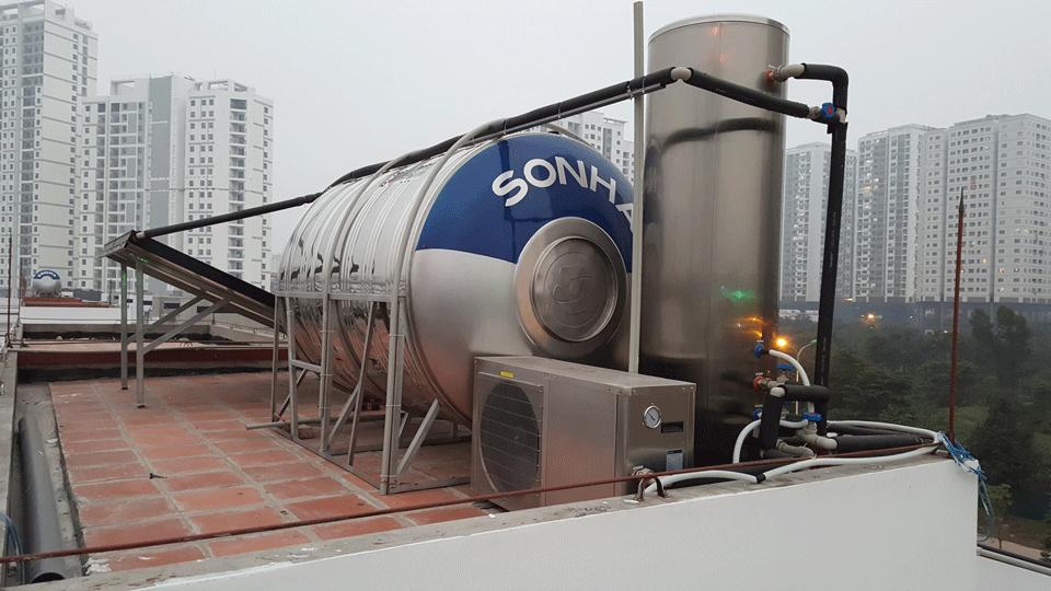 Lắp máy nước nóng bơm nhiệt tại Biệt thự ngoại giao đoàn